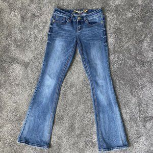 Seven7 Medium Wash Boot Cut Embellished Jeans Sz 4